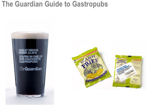 Ambient Advertising Campaign - Guardai Gastropubs Guinness